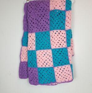 Handmade Granny Square Crochet Afghan